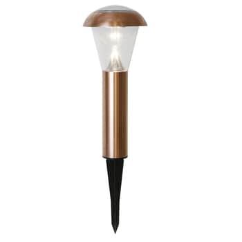 Zahradní světlo na solární napájení Bollard Napoli Copper