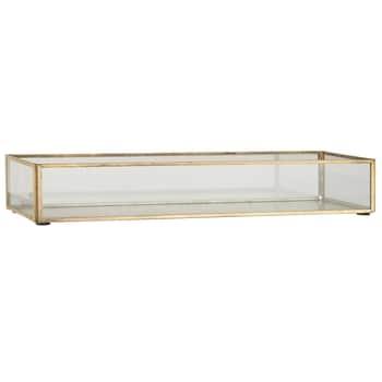 Kovový prosklený box Open Oblong Gold