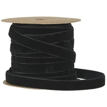 Sametová stuha na špulce Black - 10m
