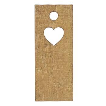 Drevený štítok na darčeky Heart