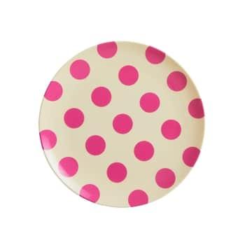 Melamínový tanierik Fuchsia Dots