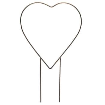 Kovový zápich do květináče Heart Double Spear
