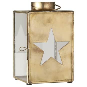 Kovový lampáš Star Brass Small