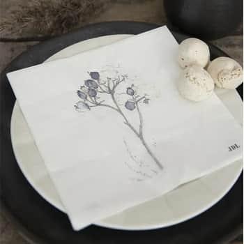 Papírové ubrousky Blackthorn White - 20 ks