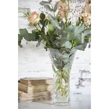 Skleněná váza Clear Glass 24 cm
