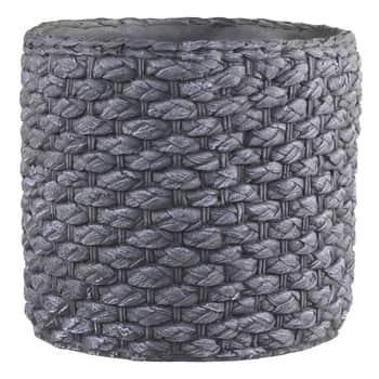 Cementový obal na kvetináč Corte Antique Coal 21 cm