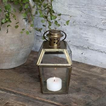 Skleněná lucerna Lantern Antique Brass