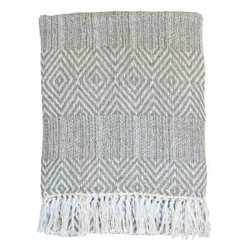 Bavlnený pléd Surplus Yarn Pattern Grey 170×130 cm