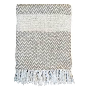 Bavlnený pléd Surplus Yarn Pattern Latte 170×130 cm