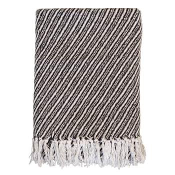 Bavlnený pléd Surplus Yarn Stripes Chocolate 170×130 cm
