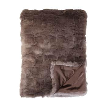 Přehoz zumělé kožešiny Antique Chocolate 180×150 cm