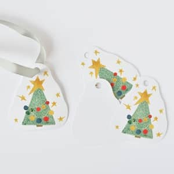 Vánoční cedulky Stromek - 5 ks