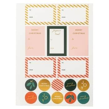 Vánoční samolepky na dárky Christmas - set 2 ks