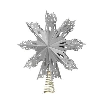 Papírová skládací hvězda na stromeček Silver