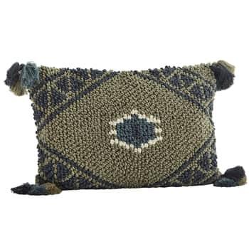 Bavlněný povlak na polštář Khaki/Antracite 40x60cm