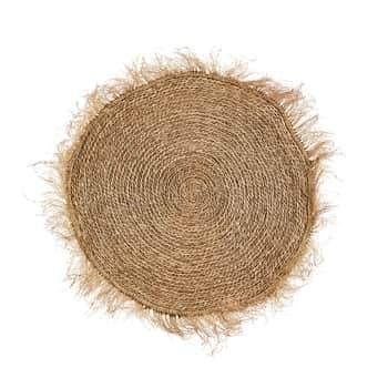 Kulatý koberec Seagrass Fringes Ø120cm