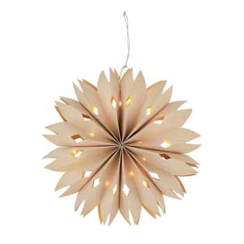 Závěsná svítící papírová hvězda Natural Ø40cm