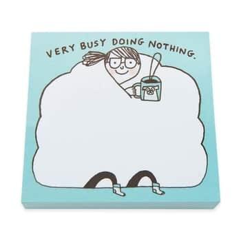 Samolepicí bloček Busy Doing Nothing Sticky Notes