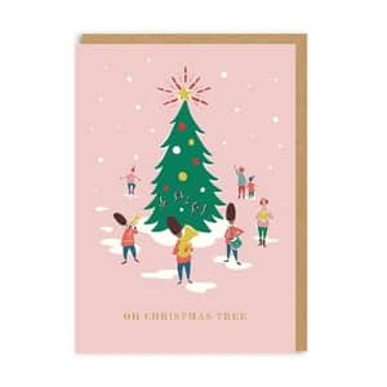 Vánoční přání Cath Kidston Oh Christmas Tree Band