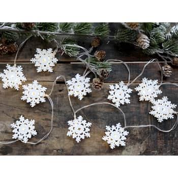 Světelný LED řetěz Snowflakes