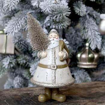 Vánoční dekorace Santa Christmas Tree Latte