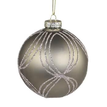 Vánoční baňka Glitter Ornament Dusty Green 8 cm