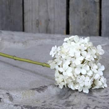 Dekorativní umělá hortenzie Hydrangea Cream 50 cm