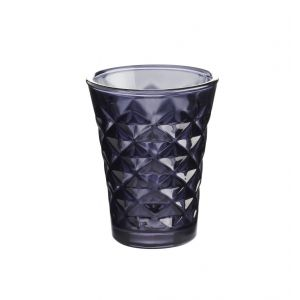 Tine K Home / Svícen Facet glass Dark purple 10 cm