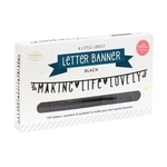 A Little Lovely Company / Písmenková girlanda Letter Banner Black