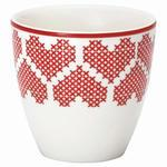 Mini latte cup December red